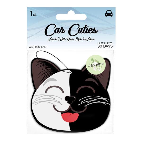 Jasmine Car Air Freshener Black and White Cat